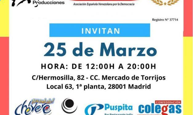 Jornada benéfica en Madrid de #UnaMedicinaPorVenezuela