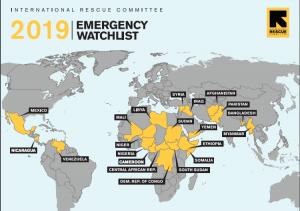 Venezuela está entre los países en riesgo de peores crisis humanitarias en 2019