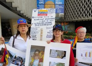 Médicos venezolanos exigieron un canal humanitario frente a la OPS