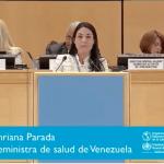 Viceministra de Salud miente sobre la emergencia humanitaria en la Asamblea Mundial de la Salud
