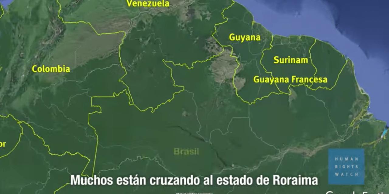 HRW: La crisis humanitaria de Venezuela se extiende a Brasil