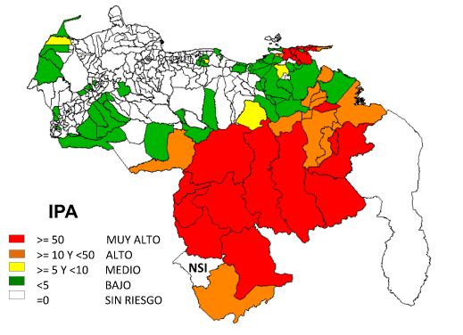 Venezuela registra 184.225 casos de malaria hasta julio