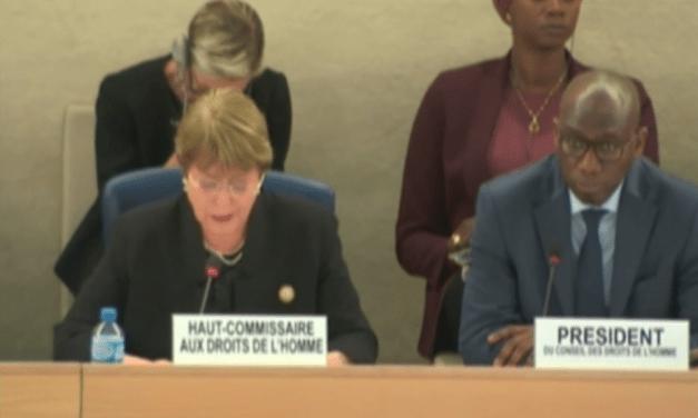 Bachelet advierte que las medidas adoptadas para contrarrestar la emergencia han sido insuficientes