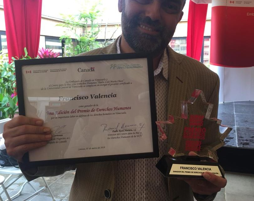 Valencia dedica premio de DDHH a quienes lucharon por el derecho a la vida y ahora no nos acompañan
