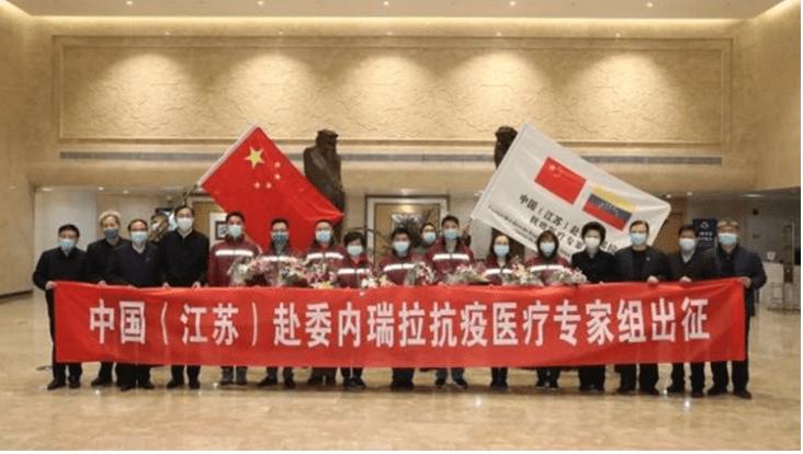 Ocho médicos chinos llegan a Venezuela para afrontar el coronavirus